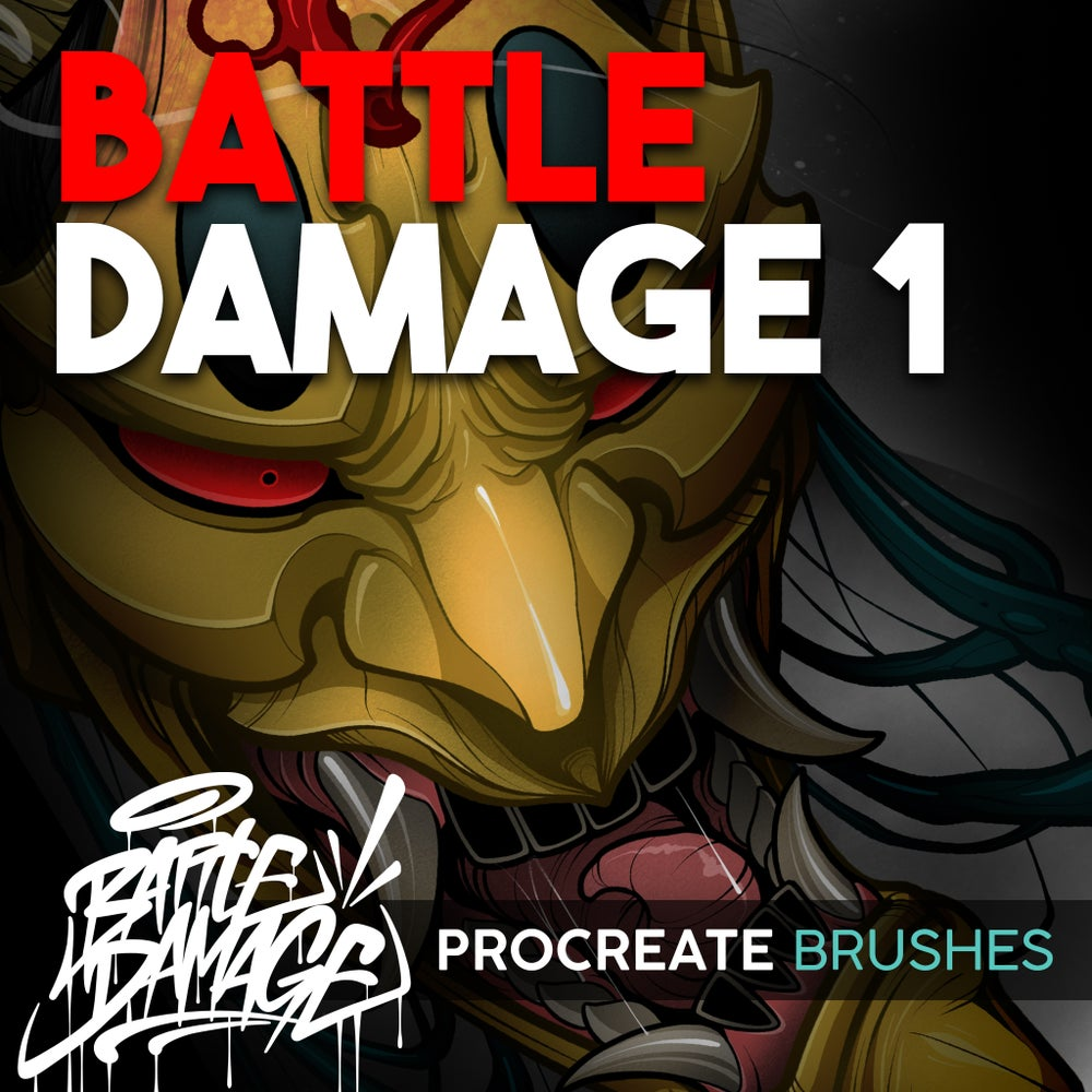 Image of Battle Damage Procreate Brush Set