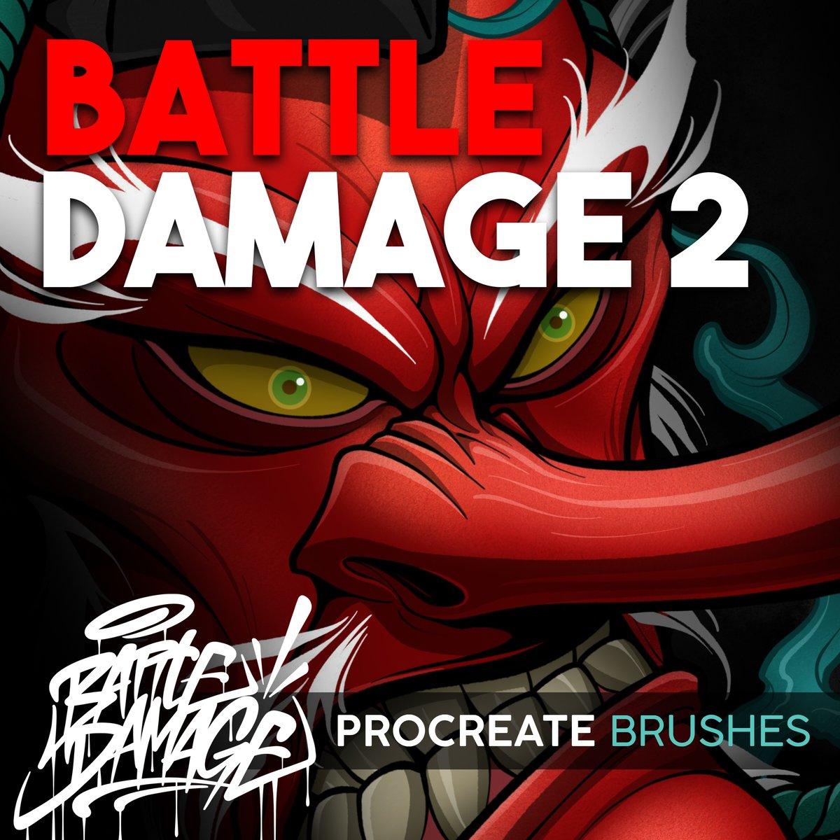 Image of Battle Damage 2 Procreate Brush Set