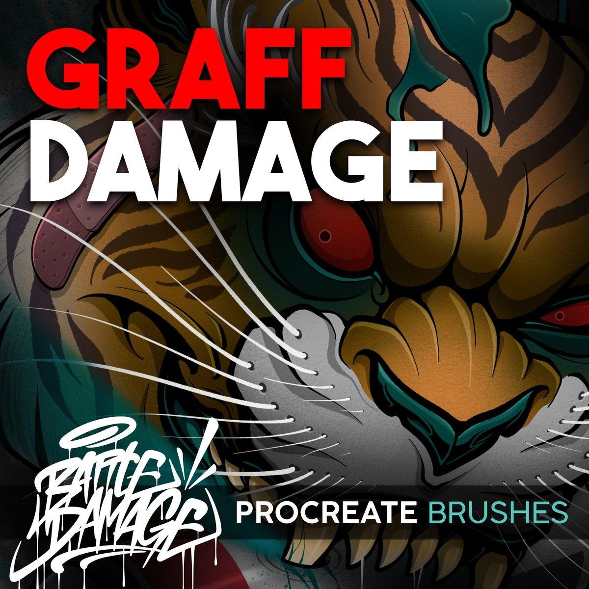 Image of Graff Damage Procreate Brush Set