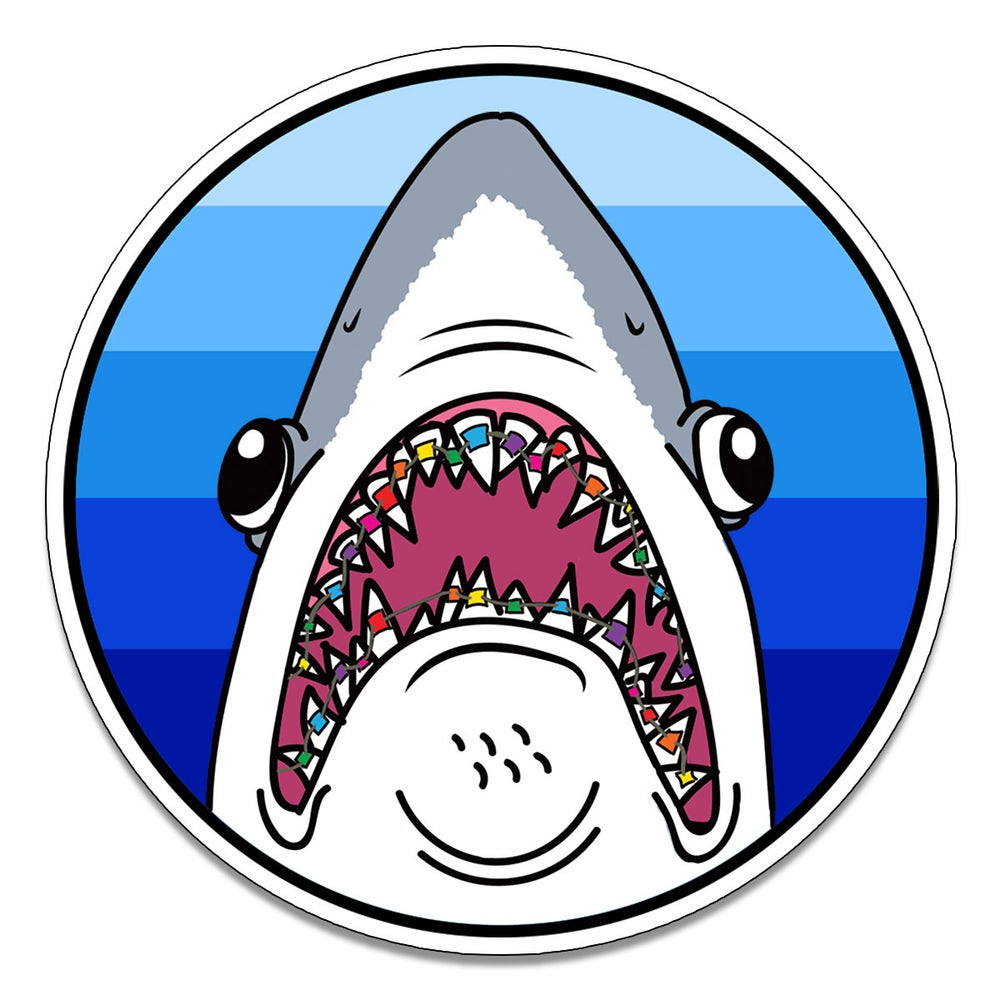 Image of Shark with Braces Sticker