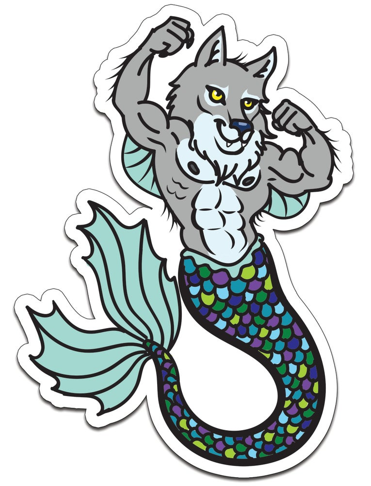 Image of Werewolf Furmaid Sticker