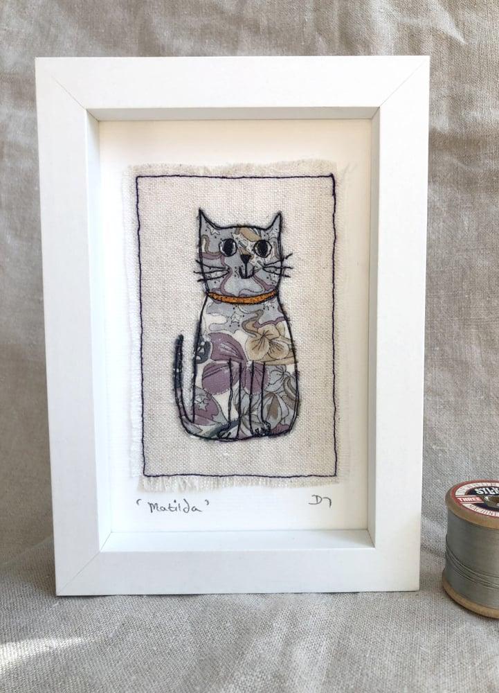 Framed Liberty Fabric Cat 'Matilda'