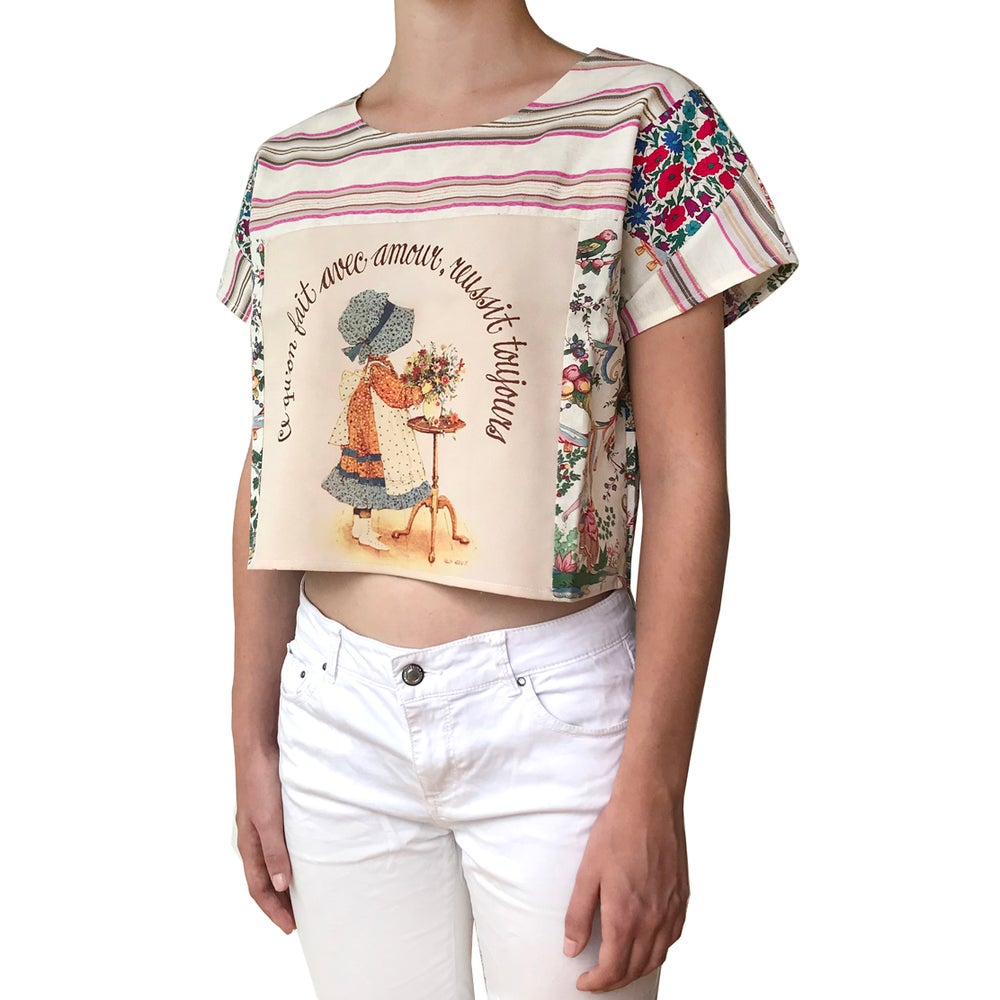 Image of Sarah Kay & Liberty Upcycled crop Top