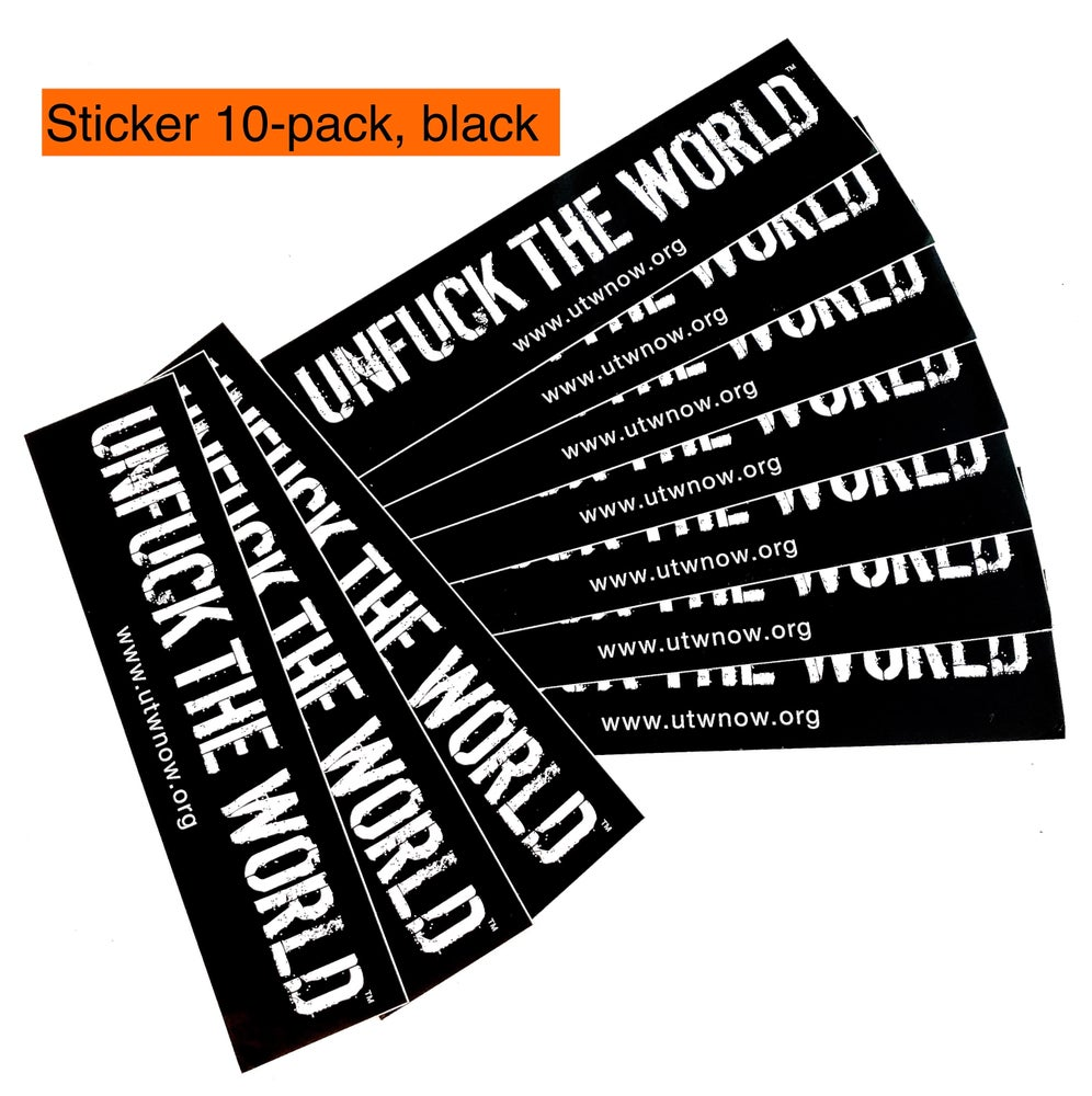 Image of OFFICIAL UTW BLACK STICKER PACK