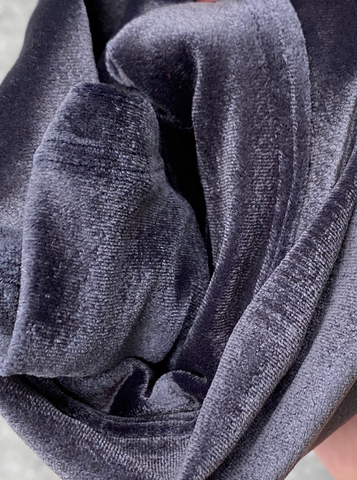 Image of Charcoal gray velvet set