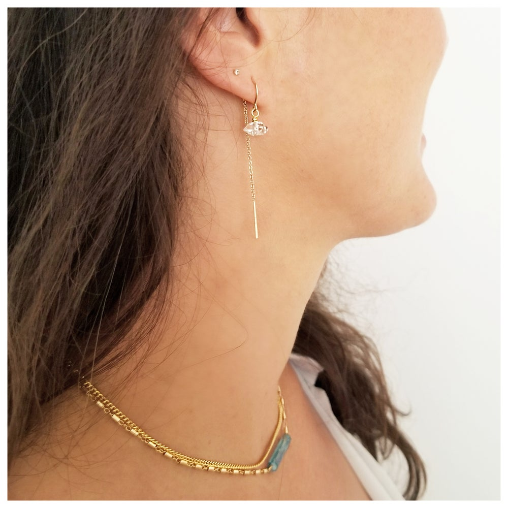 Image of Clarity  Earrings with Reverse Drop