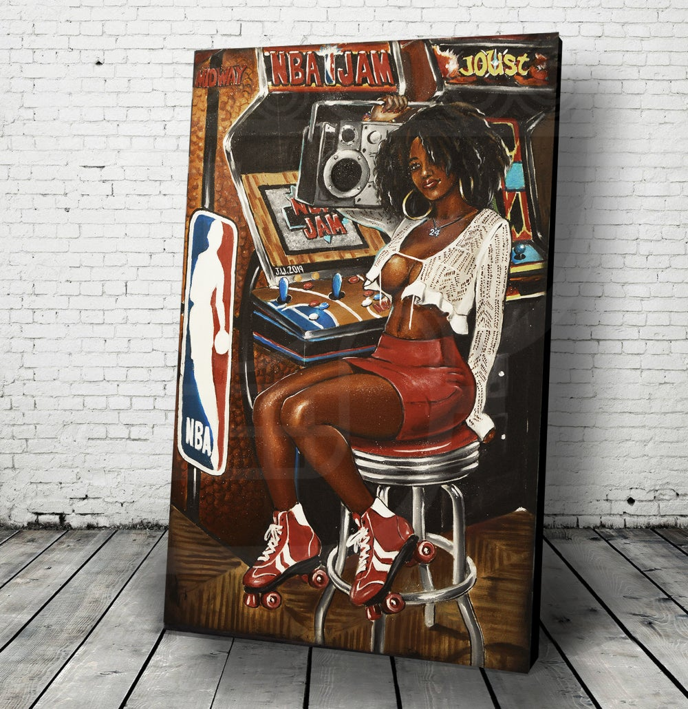 Image of NBA JAMS Jeremy Worst Arcade Series Barcade Sexy Gamer