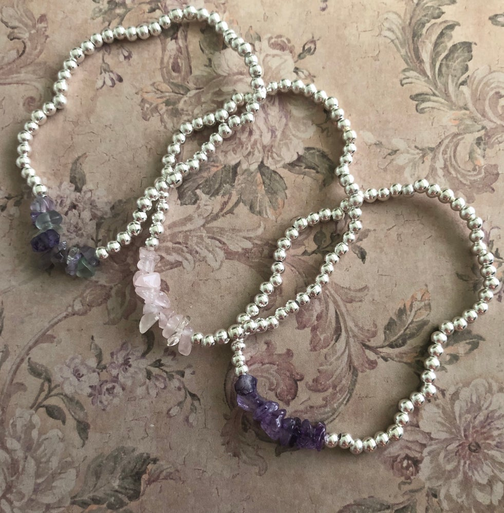 Image of Semi precious bracelets - 7 stones to pick from