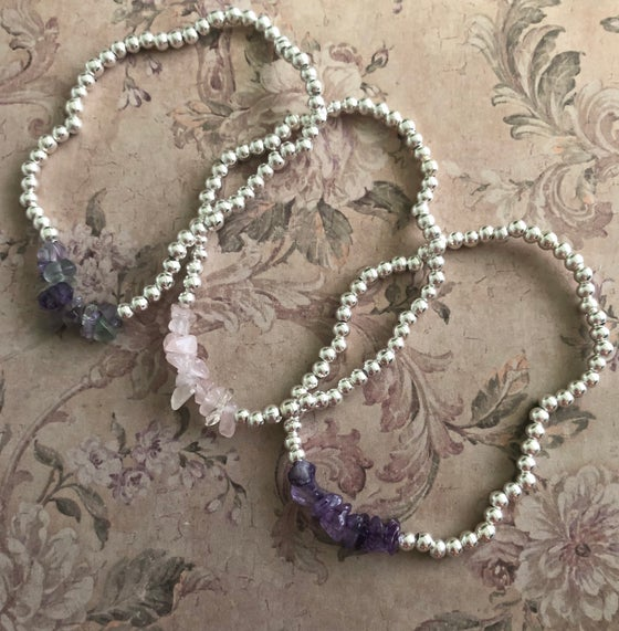 Image of Semi precious cluster bracelet - 6 stones to pick from