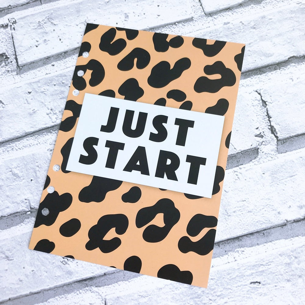 Image of A5 FOOD DIARY ORGANISER INSERT JUST START1