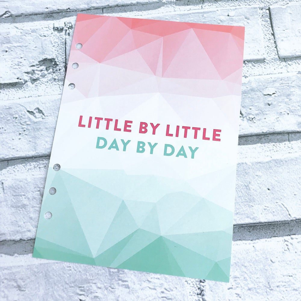 Image of A5 FOOD DIARY ORGANISER INSERT LITTLE BY LITTLE
