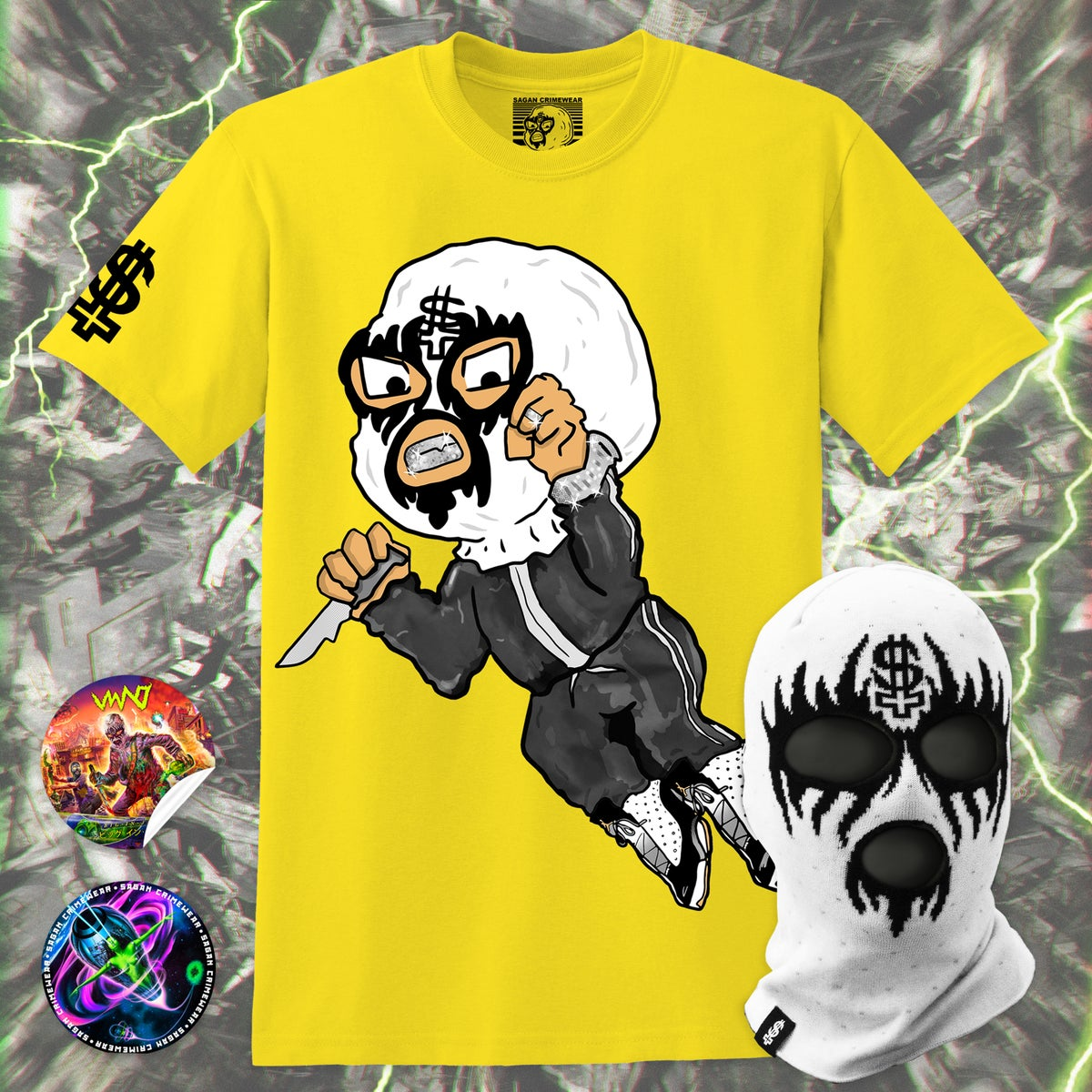 Image of LITTLE SAGAN Tshirt + Skimask
