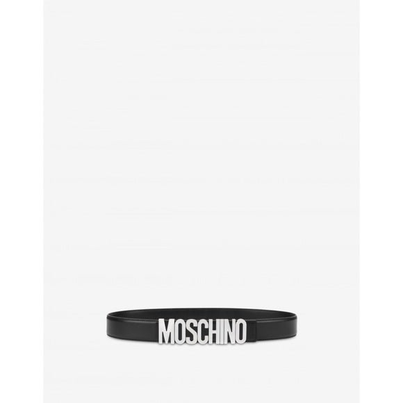 Image of NWT MOSCHINO Calfskin Belt with Logo