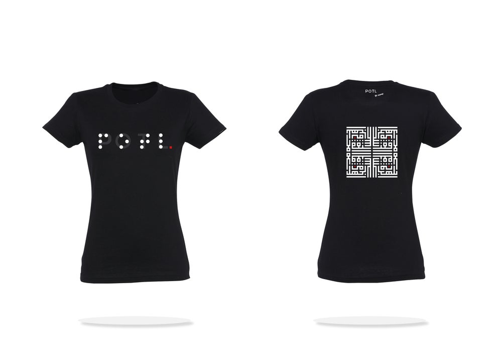 Image of Woman t-shirt - Black Inception