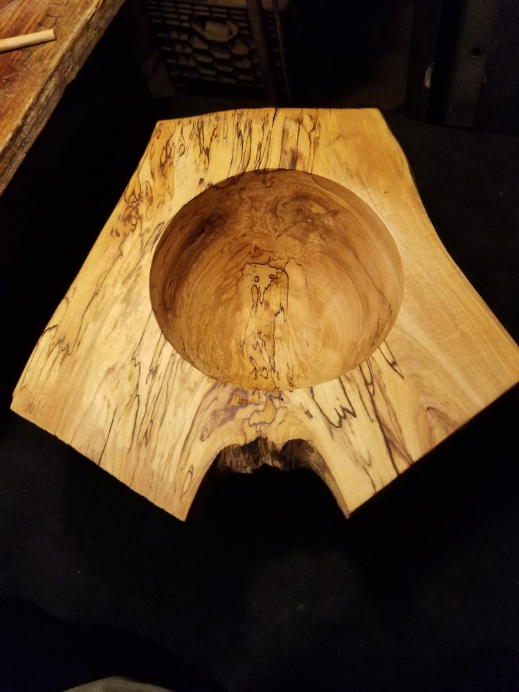 Image of Spalted Sugar Maple Crotch Bowl