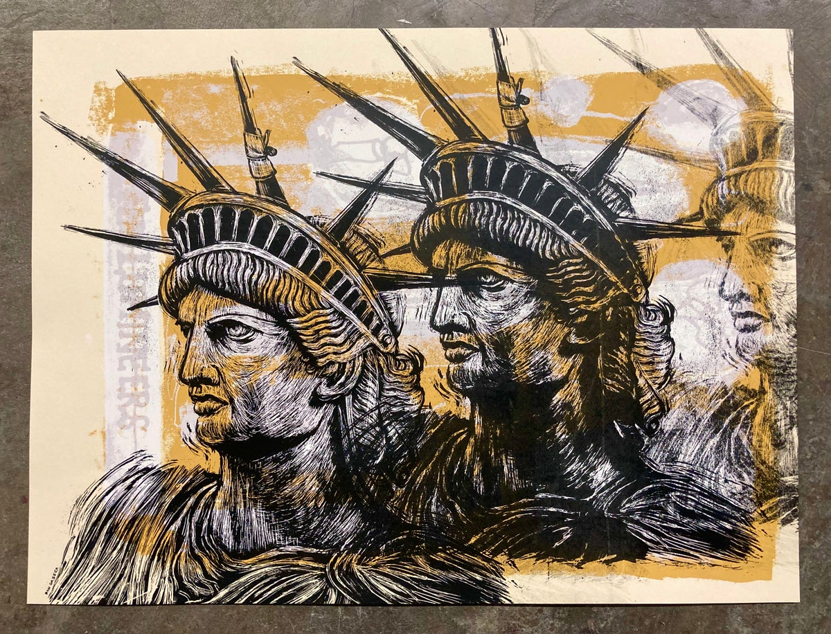 Bruised Liberty test print #13