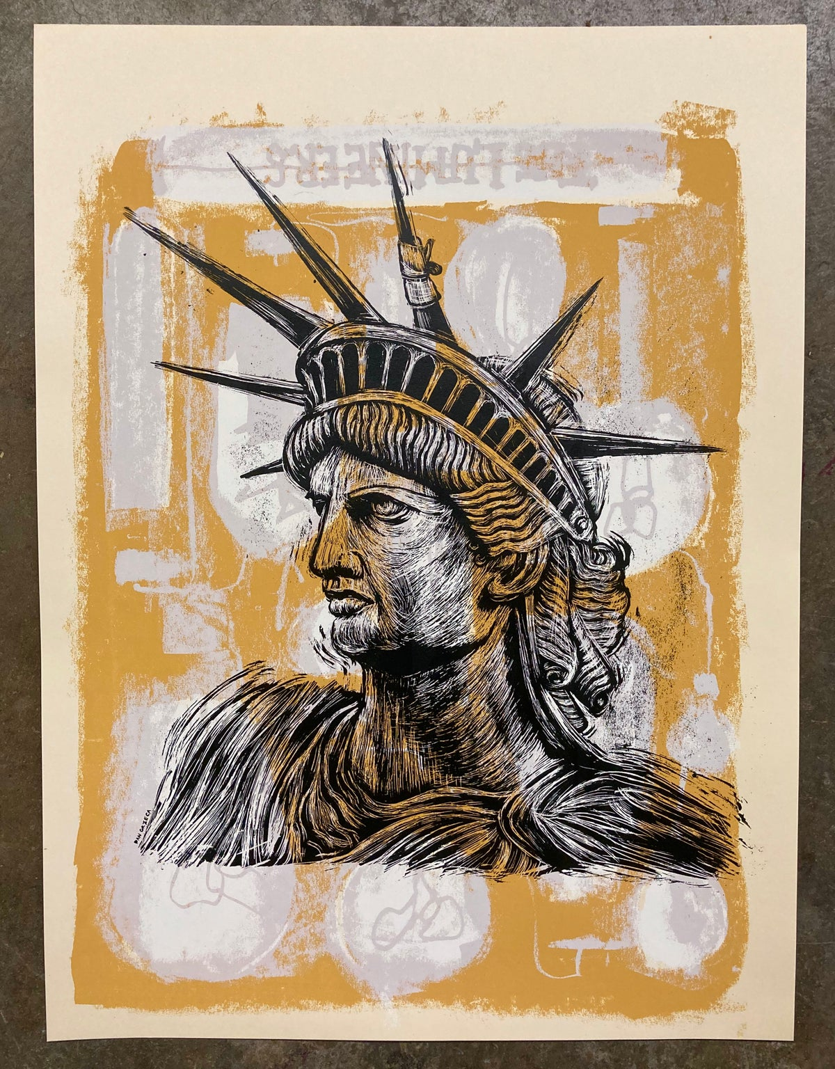 Bruised Liberty test print #12
