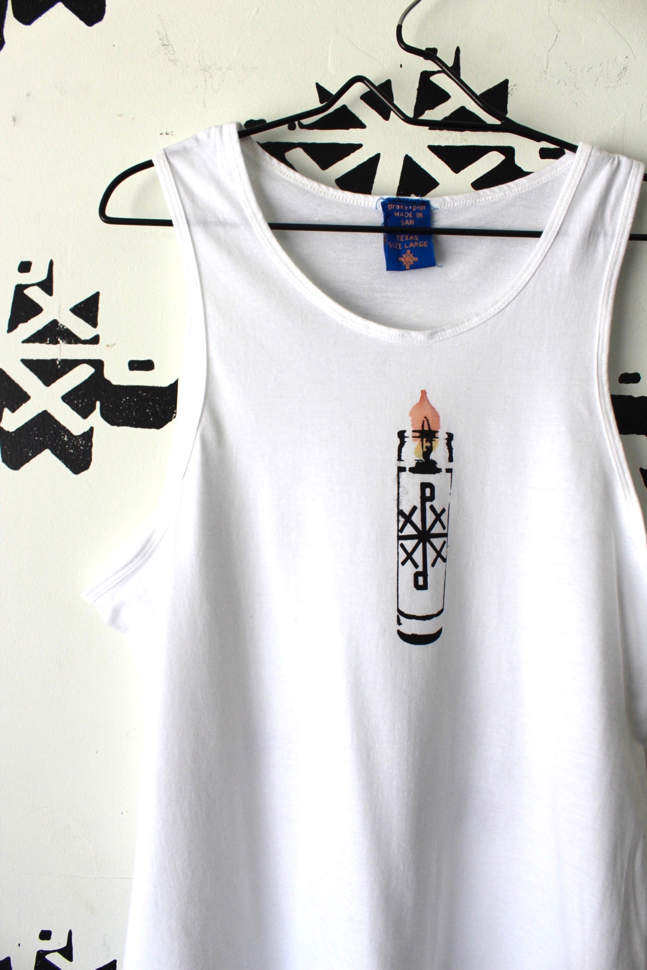 Image of keep it lit tank in white