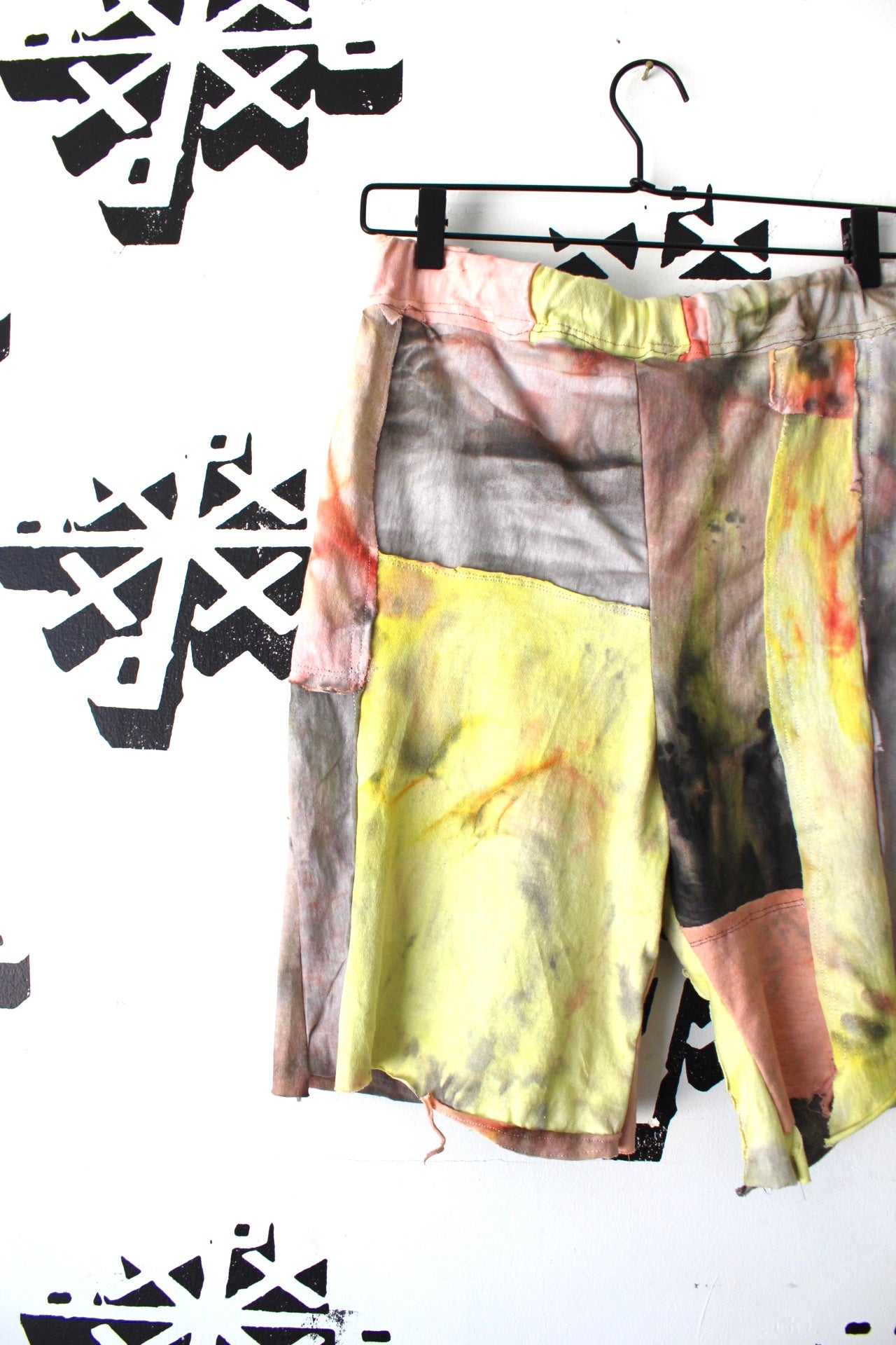 Image of suns up cut and sew shorts