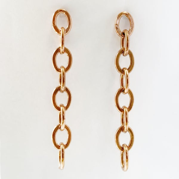 Image of Copper Chain Link Earrings