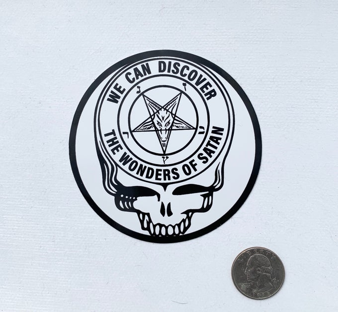 Image of Satanic Steal Your Face Sticker