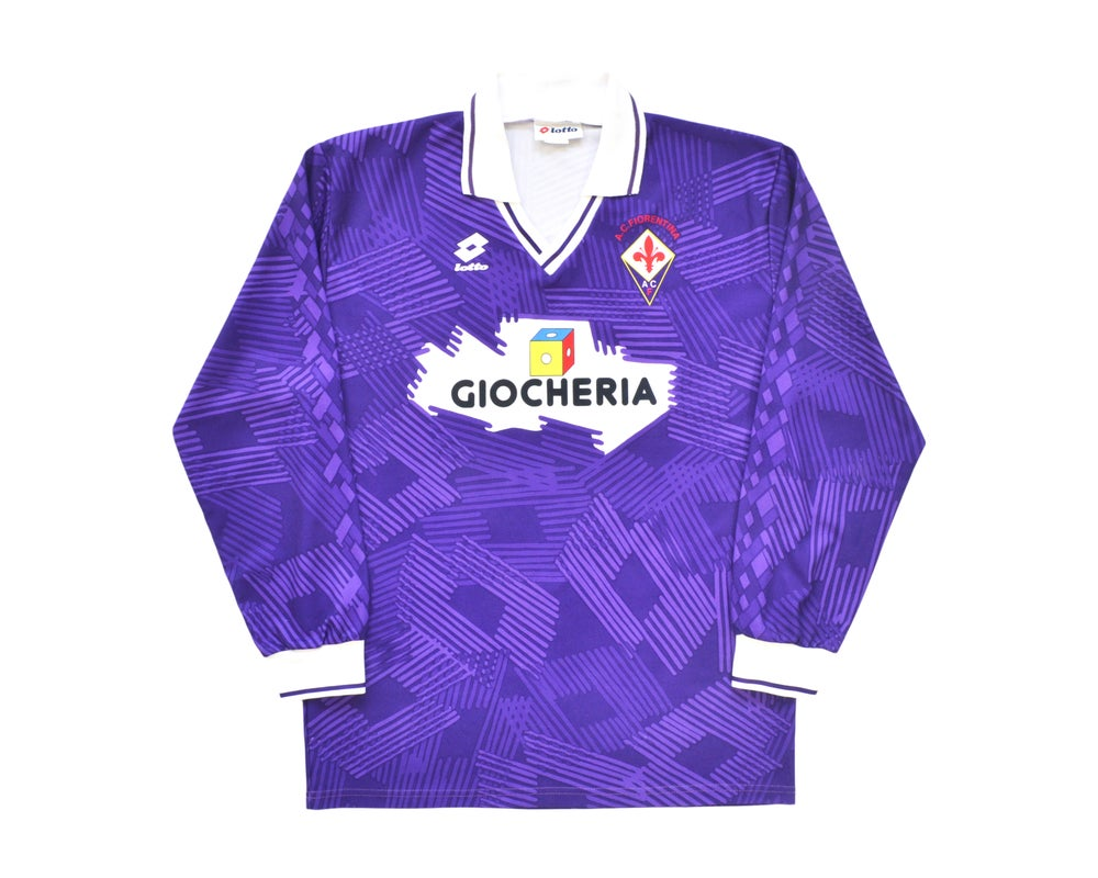 Image of 1991-92 Lotto Fiorentina Home Shirt L