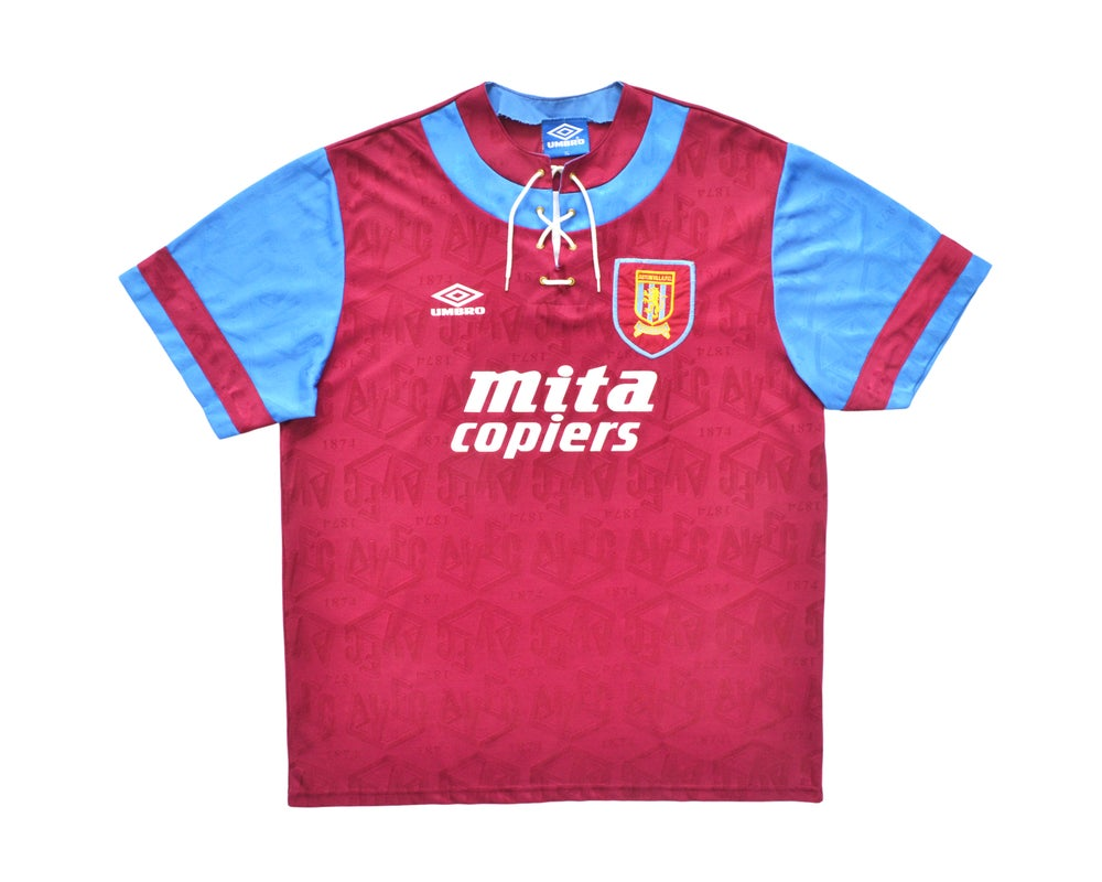 Image of 1993-95 Umbro Aston Villa Home Shirt XL