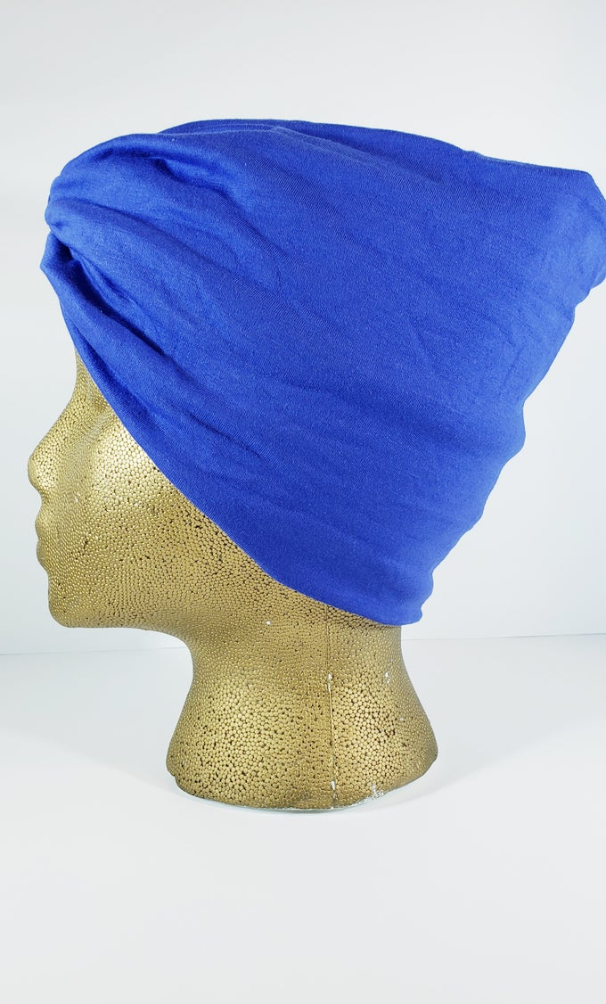 Image of Blue Hair Wrap
