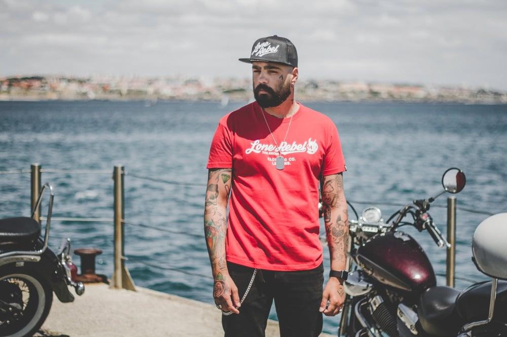 Image of Lone Rebel T-shirt 19' Red