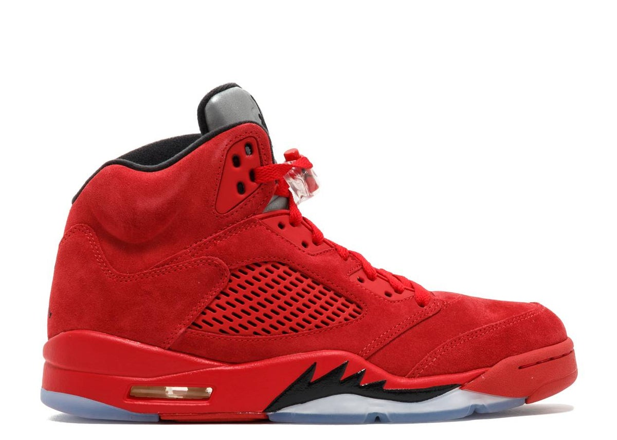 Image of AIR JORDAN 5 RETRO 'RED SUEDE'