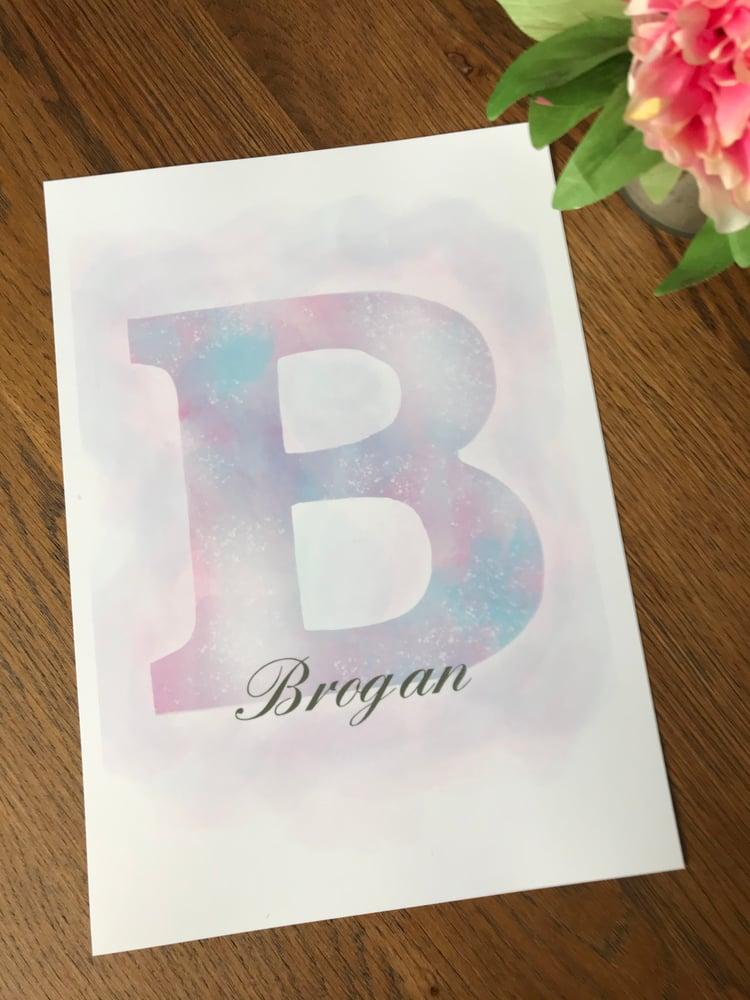 Image of Personalised Initial Print