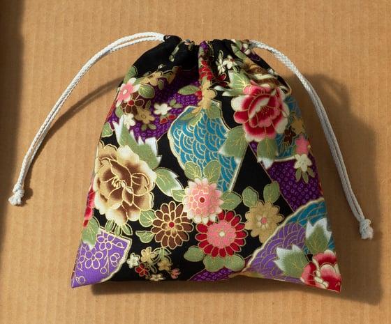 Image of Japanese Kinchaku (drawstring bag)