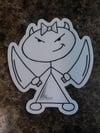"""3"""" White Stella Sticker"""