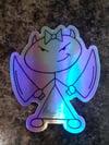 """Holographic 3"""" Stella Sticker"""