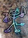 "Holographic 3"" Stabby Sticker"