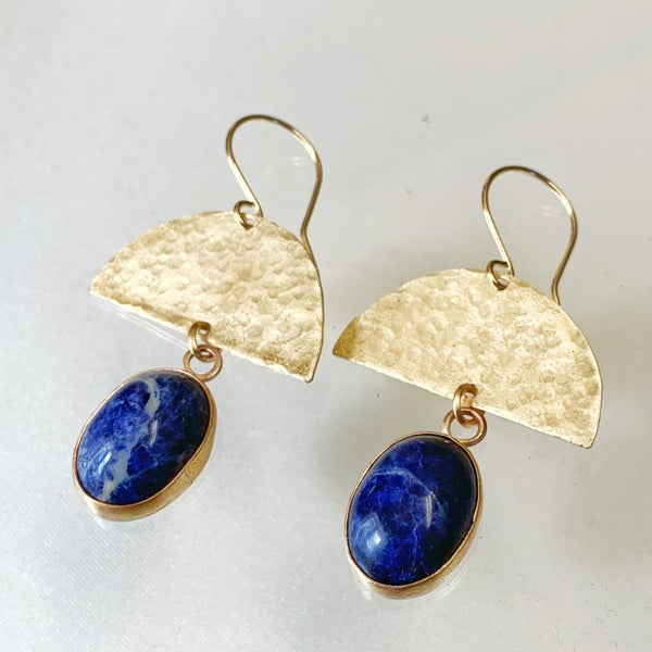 Image of Golden Sodalite Earrings