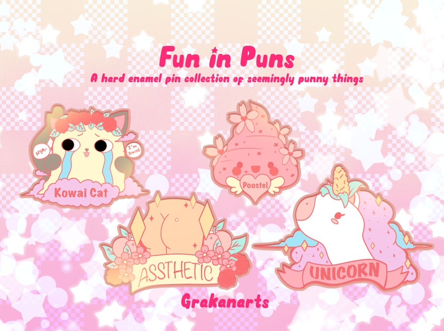 Image of  Fun in Puns Enamel Pins