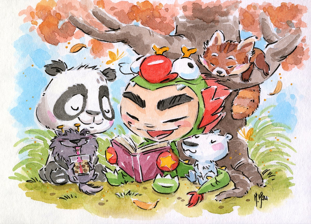 "Dragon Boy Books and Boba 3-Pack 5 x 7""  Prints"