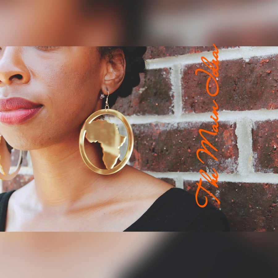 Image of H.O.M.E (Mirrored African Earrings )