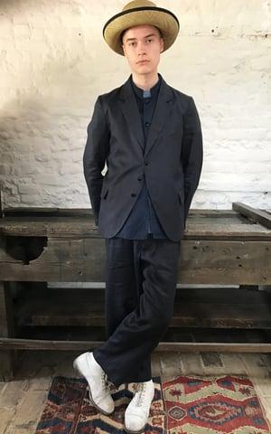 Image of Club Trouser in Italian Dark grey linen £195.00