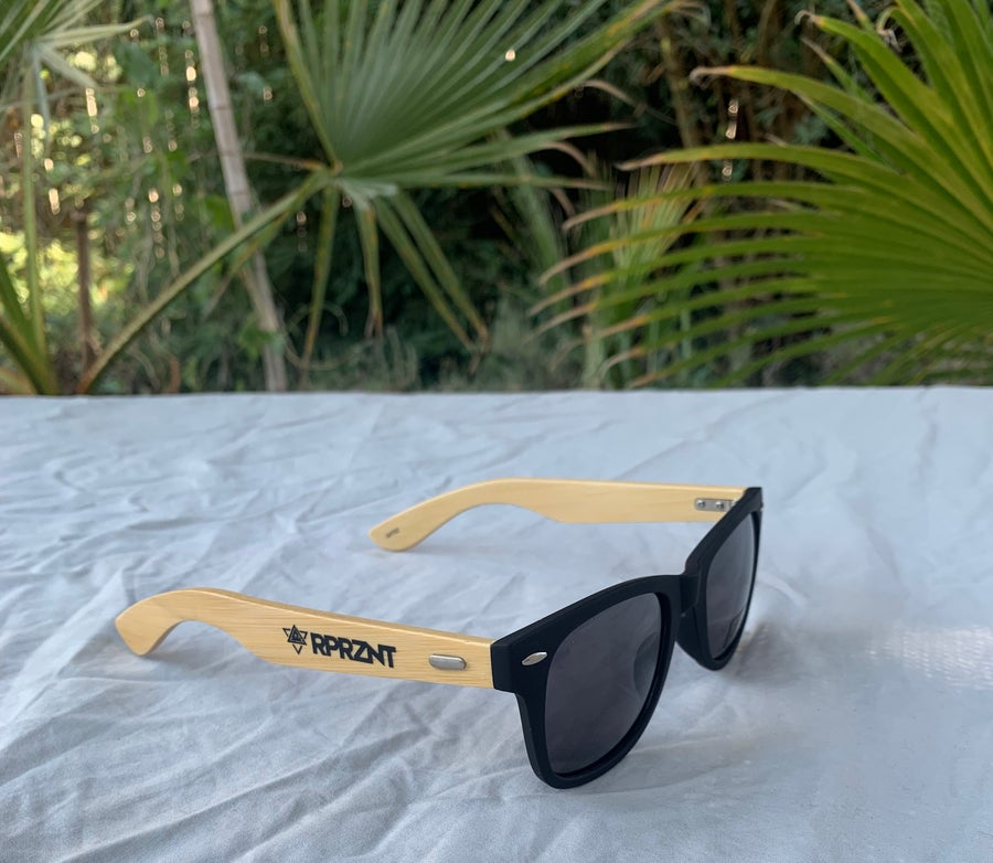 Image of Limited bamboo-black sunglasses