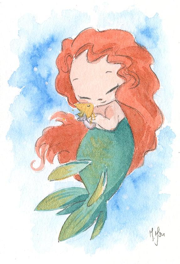 "Princess Mermaids 5-Pack 5 x 7"" Prints"