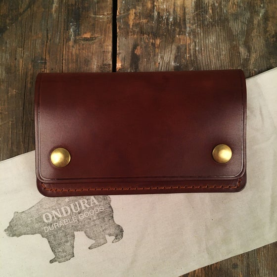 Image of ONDURA SLIM BIKER WALLET BROWN