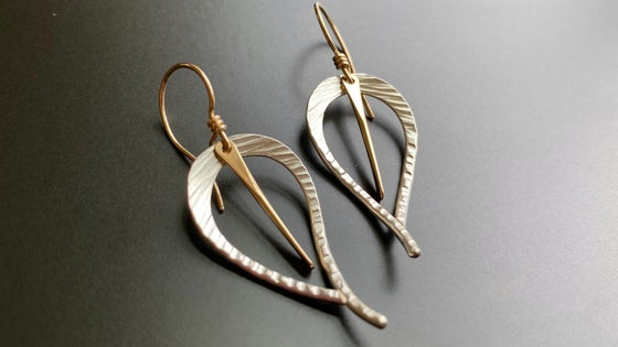 Image of Small Open Leaf Earrings