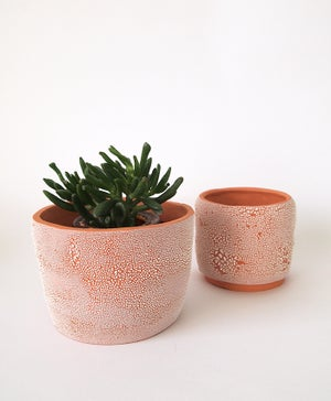 Textured Terracotta Planter no 10