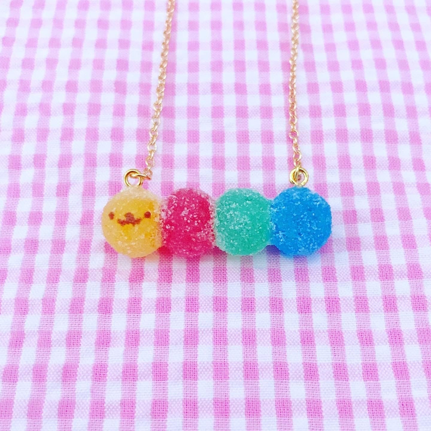 Image of Sour Caterpillar Candy Necklace