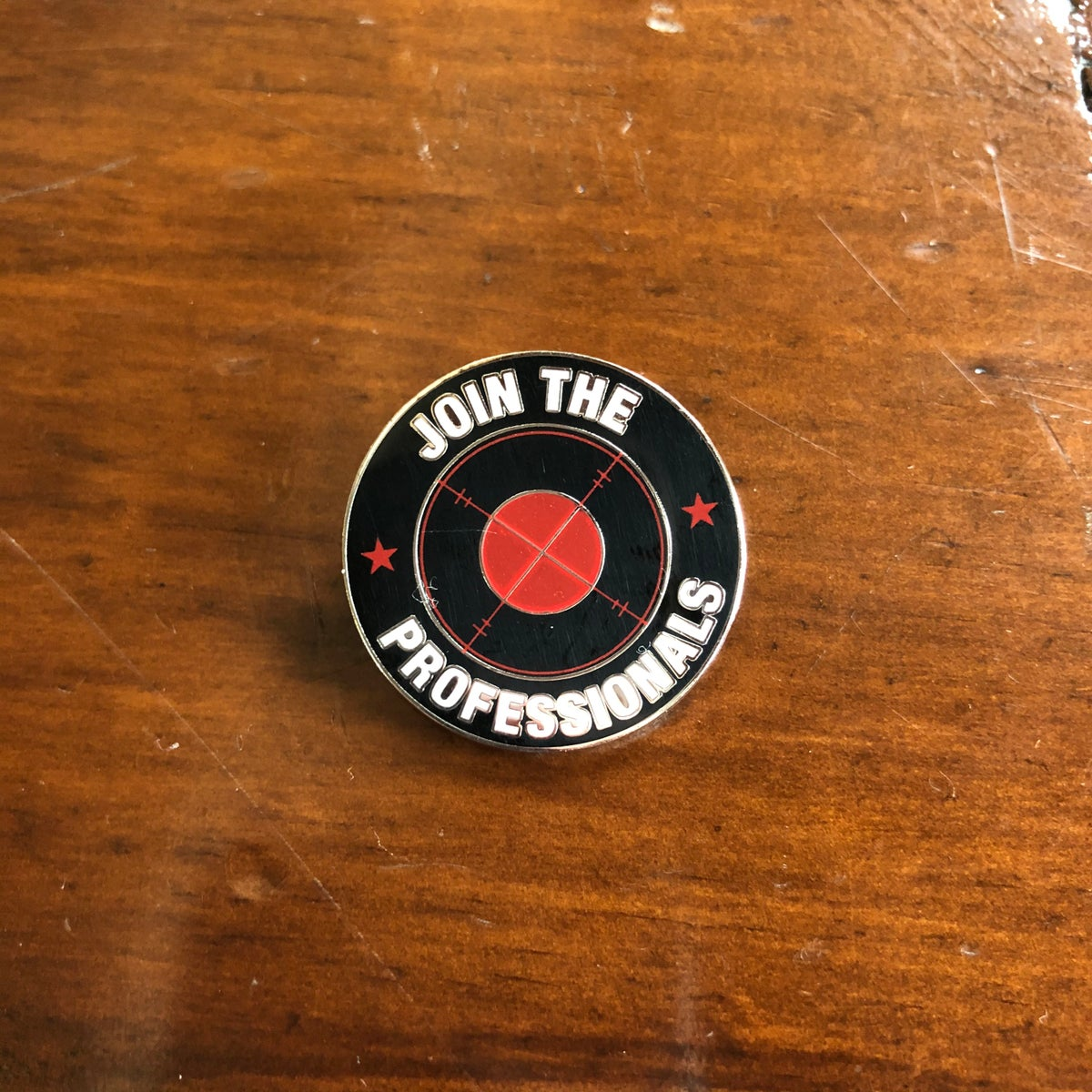 "Image of ""Join The Professionals"" Pin Badge"