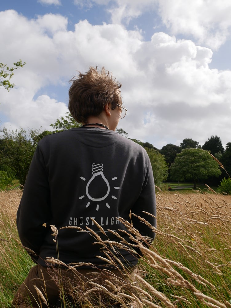 Image of Charity Ghost Light Organic Sweatshirt Supporting the arts, theatre and performance.