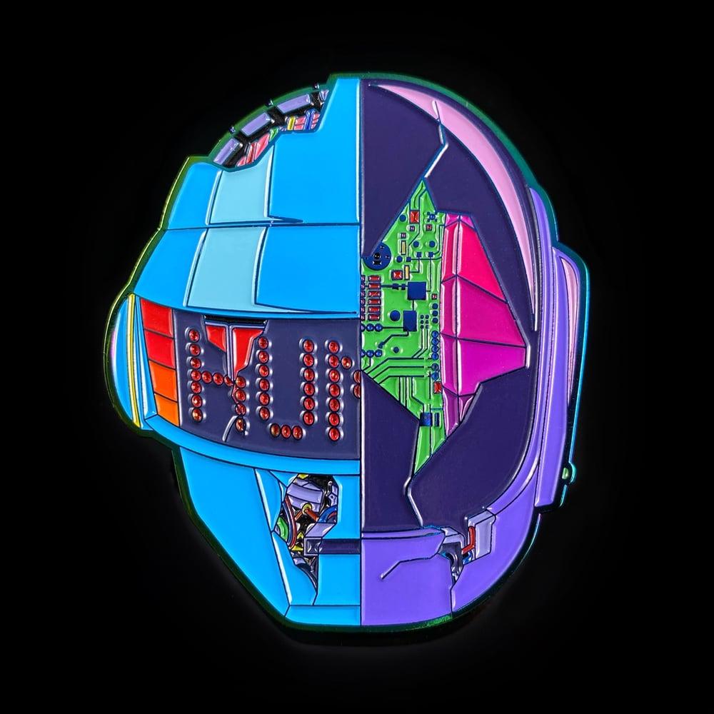 Image of Daft CyberPunk 2077 Pin - Neon Rainbow Metal Edition