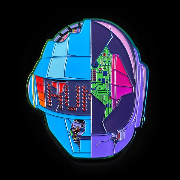 Image of Daft CyberPunk 2077 Pin - Neon Rainbow Metal Edition